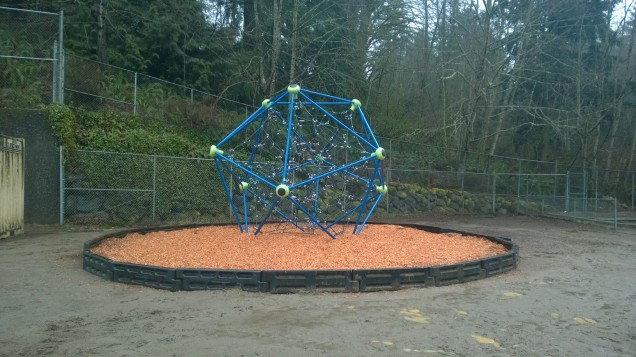 New Climbing Structure installed during Mid-Winter Break.